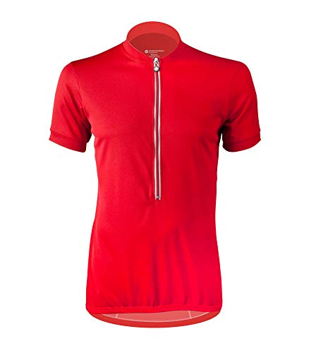 Big Man's Plus Size Cycling Jersey in Red - Size XXXX-Large
