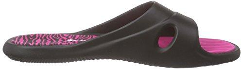 Feet 8018 Rider Slide Sandales Mehrfarbig Femme Ouvertes Black Pink Multicolore aa5dwqzxAr