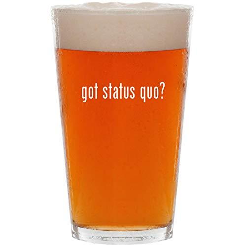 got status quo? - 16oz All Purpose Pint Beer Glass (Status Quo Bula Quo)