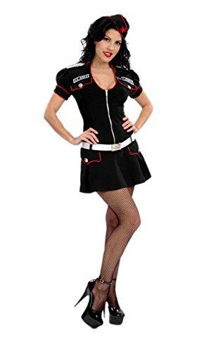 [Designer Costume! 3Pc Rear Admiral Costume (Black, Large)] (Rear Admiral Costume)
