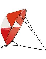 DASNTERED Kajak vindsegel, hopfällbart vindsegel, bärbar kajak paddel bräda tillbehör för uppblåsbara båtar kajaker kanoter (röd)