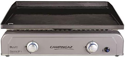 Campingaz Plancha Gaz BF L, 2 Brûleurs en Acier, Puissance 6 kW avec la Technologie Blue Flame, Plancha à Poser, Large Plancha à Revêtement Anti-adhésif, Cuisson Teppanyaki