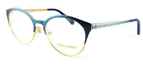 Tory Burch TY1041-3053-5217 Matte Blue Shimmer/Gold Tri, 52 17 - Tory Case Burch Eyeglass