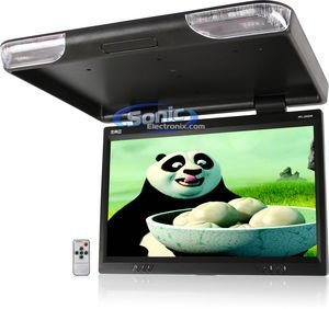 Absolute PFL2500IRB 25-Inch TFT-LCD Overhead Flip-Down Monitor with Built-in IR Transmitter and Remote Control (Black)