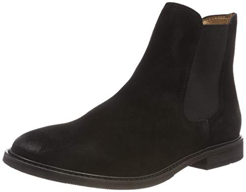 Slfbella Nero Suede B Black Donna Chelsea Femme Boot Stivali black Selected w8qPEW