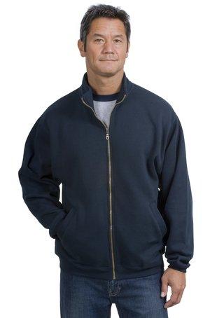 Ae Mens Sweater (Upscale Men's Athletic Full Zip Fleece Sweatshirt - Navy Blue,)