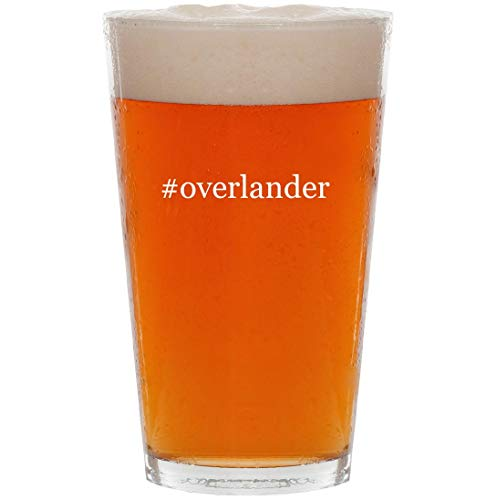 #overlander - 16oz Hashtag Pint Beer Glass