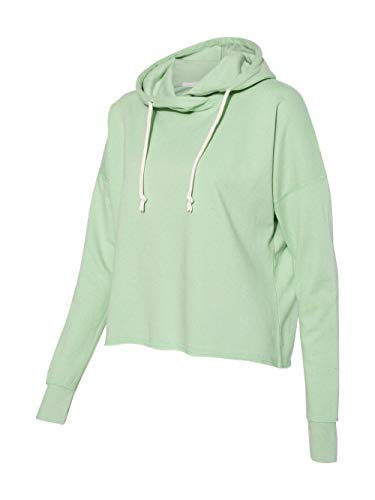 (J. America - Women's Lounge Fleece Hi-Low Hooded Pullover - 8684 - L -)