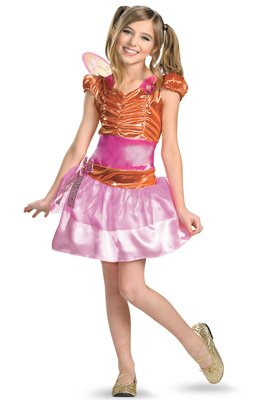Winx Club Costumes - Winx Club Stella Classic Costume, Pink/Orange, Large/10-12