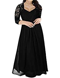 7062c6c2dd79 Women s Deep- V Neck Sleeveless Vintage Plus Size Bridesmaid Formal Maxi  Dress