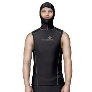 New Men's LavaCore Trilaminate Polytherm Hooded Vest for Extreme Watersports (Size Large)