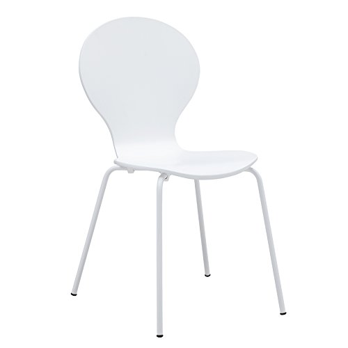 Poly and Bark Petal Dining Chair in White by Poly and Bark