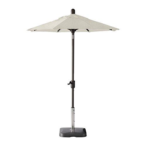 Secret Garden Home Goods Laguna Cove 6′ Round Auto Tilt Market Umbrella (Antique Bronze, Sunbrella- Natural) For Sale