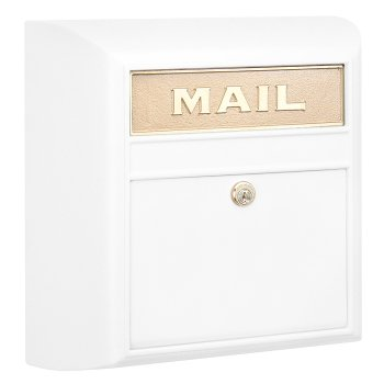 Modern Locking Mailbox - White
