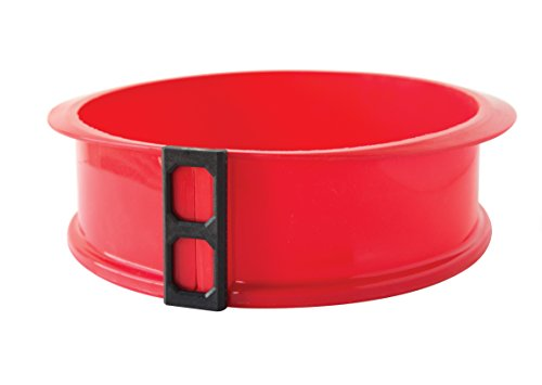Fox Run Brands Silicone Springform Pan with Glass Bottom, Red