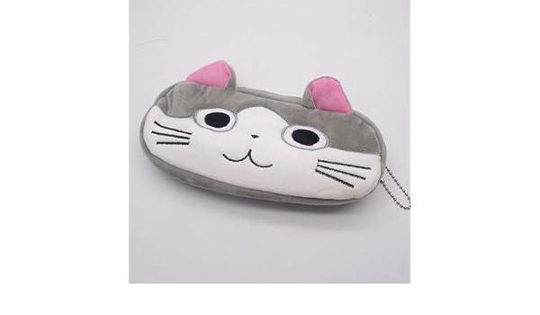 ADSIKOOJF Kawaii Estuche de lápices Dibujos Animados Totoro Stitch Cat Plush Bolsa de lápices Grande para niños Niños Papelería Escolar Suministros Juguetes No.3: Amazon.es: Hogar