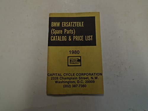 1980 BMW Ersatzteile Spare Parts Price List Catalog Manual Factory OEM Book ***