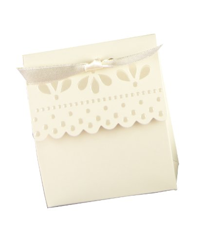 Hortense B. Hewitt Tent Favor Boxes, 3.75-Inch, Ivory