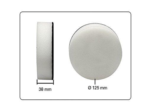 Polierschwamm weich Klett selbsthaftend 125 mm x 38 mm Hochglanz f/ür Metall Glas