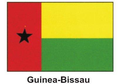 Brand New 12''x 18'' World Flag with Stick - Guinea-bissau