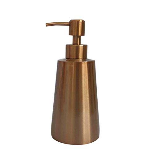 shengyuze Soap Dispenser for Kitchen Sink Bathroom, 350ml Liquid Soap Detergent Shower Shampoo Bottle Container Bathroom Dispenser - Rose Gold
