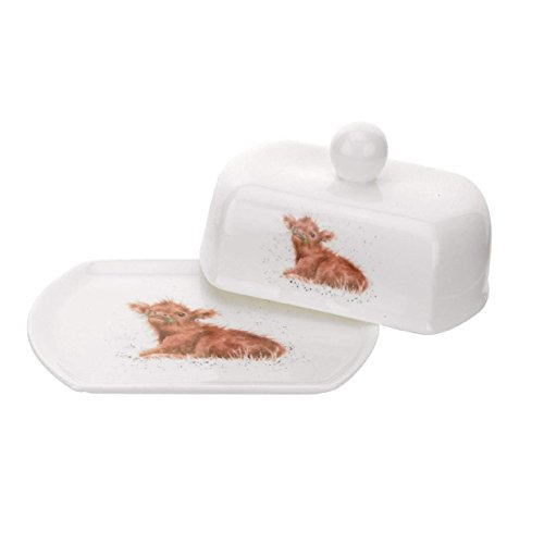 - Royal Worcester Covered Butter Dish - Wee Hamish (Calf)