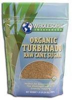 Wholesome Sweeteners Organic Turbinado - Raw Cane Sugar - Case Of 50 - 1 Lb. - Turbinado Sugar Health