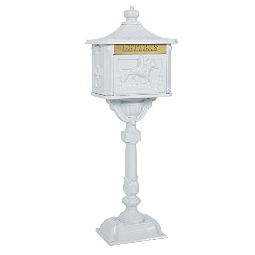 Best Choice Products SKY386 Security Heavy Duty Mail Box, Aluminum White