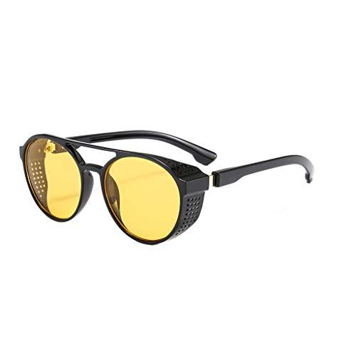 Yucode Classic Polarized Driving Glasses Shades for Men Round Sunglasses UV Protection Non-Prescription Eyewear Glasses Yellow