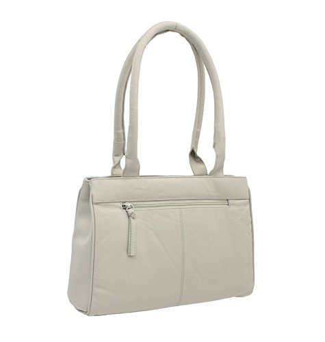 Collection Bag Grey Shoulder Beau 7123 Leather Light 89 Mala q6IEZ