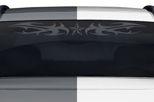Sticky Creations - Design #159-01 Nautical Star Tribal Flame Windshield Decal Sticker Vinyl Graphic Back Rear Window Banner Tailgate Car Truck Go Cart Boat Trailer | 36