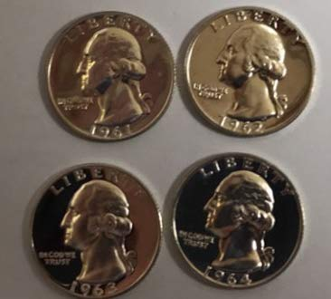 1961 & 1962 1963 1964 GEM Proof 90% Silver Washington for sale  Delivered anywhere in USA
