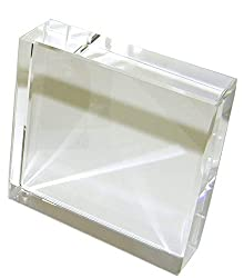 Square Crystal Paperweight for Engraving with Gift Box