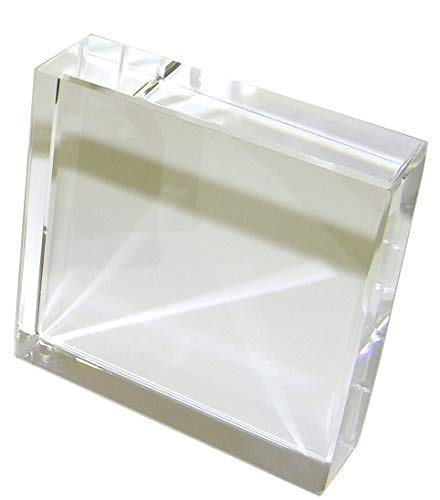 Amlong Crystal Square Crystal Paperweight for Engraving with Gift Box