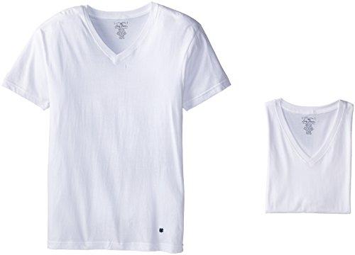 Lucky Brand Men's 3-Pack V-Neck T-Shirt, White, ()