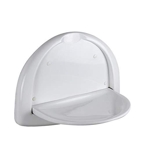 KKCF Asiento para Ducha Taburete Plegable De Pared Fuerte Carga Acogedor Equilibrar Impermeable Abdominales, Blanco (Color :...