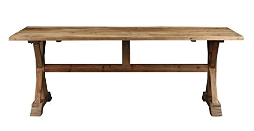 Gathering Table Trestle Base - Burnham Home 25039 Charlotte Rectangle Dining Table, Natural