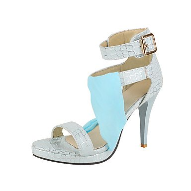 LFNLYX Sandalias mujer Primavera Verano Otoño otros PU Parte & Noche Casual Stiletto talón otros Azul Blanco Rosa Blue