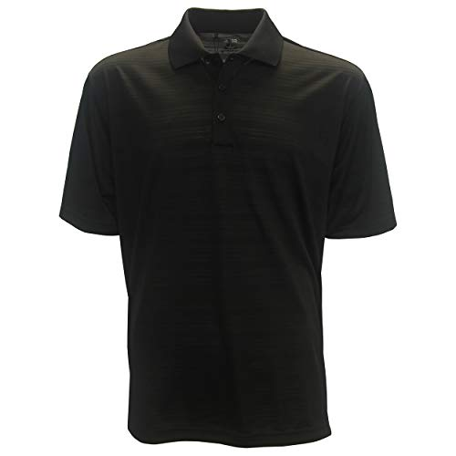 adidas Golf Mens Climalite Textured Short-Sleeve Polo (A161) -Black -M