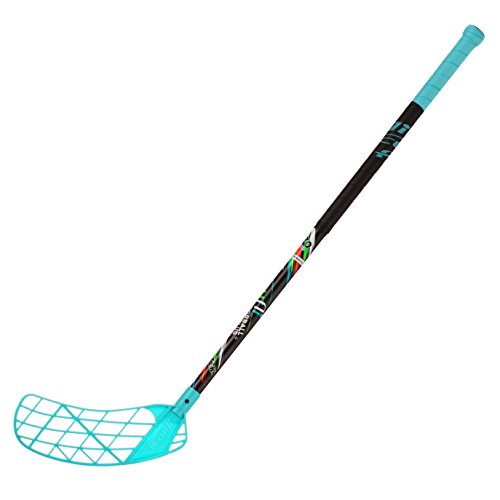 ACCUFLI Floorball Stick AirTek A80 Youth Left Stick Length 36inch Curved Blade (Teal)