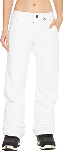 (Volcom Junior's Frochickie Insulated 2 Layer Shell Snow Pant, White, Medium)