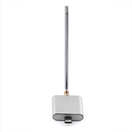Micro USB portá til HD TV digital receptor sintonizador Stick de TV DVB-T2/T, con tipo C adaptador para Android telé fono/PAD/tablet (DVB-T2 Dongle (plateado)) ANGNO USB T2 200