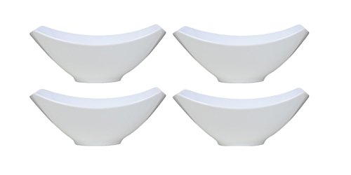 Over-and-Back 4-Piece Porcelain Serving Bowl Set (4 Bowls) (And Sides Back Over)
