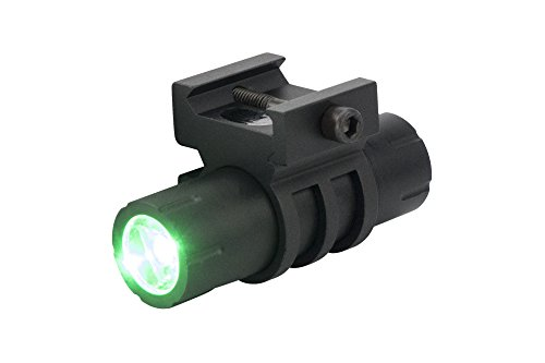 Monstrum 100 Lumens Green Light LED Ultra-Compact Flashlight with Rail Mount and Detachable Remote Pressure Switch