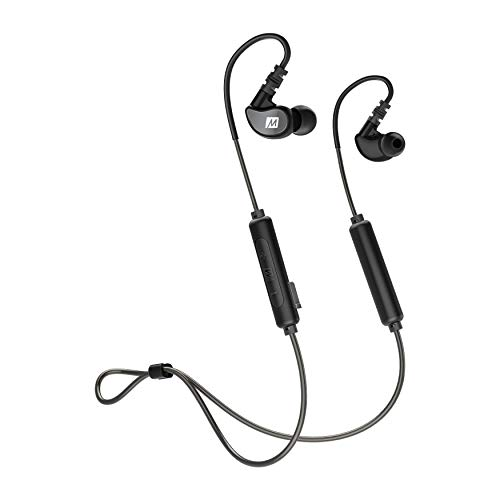 MEE audio M6B Bluetooth Wireless Sweatproof Sports in-Ear Headphones with Headset (2019 Version with Bluetooth 5.0; 9 Hour Battery - Activities Headphones In Ear Sport