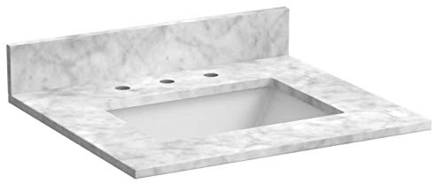 Foremost ST25228CWR 25-Inch Marble Vanity Top In Carrara -