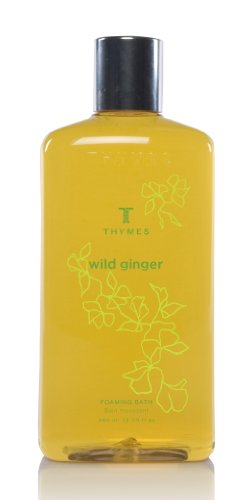 Thymes Liquid Foaming Bath, Wild Ginger, 12.25-Ounce Bottle