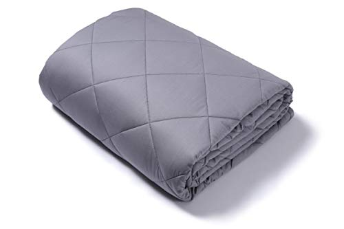 Cheap Nicdre 60x80 Weighted Blanket 15lb Grey for Adult Kids Women Men Natural Calm Enjoy Sleeping All-Season Egyption Cotton with Glass Beads Fit Queen Black Friday & Cyber Monday 2019