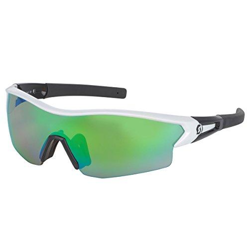 Scott Leap Interchangeable Lens Sunglasses - 238999 (White Glossy/Black/Green Chrome Amplifier + ()