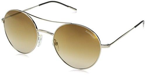 Carrera 107/s Round Sunglasses, Light Gold/Brown Silver Gold, 53 - Carrera Brown Gold Sunglasses